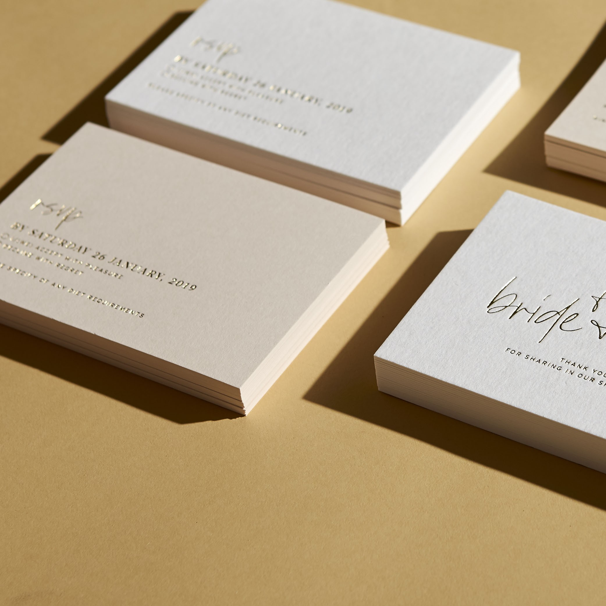 RESPONSE CARDS   Love Letters Foiling
