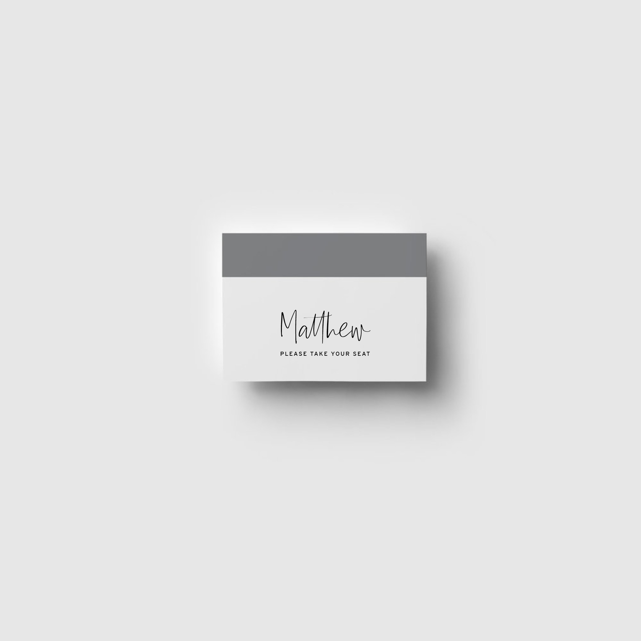 -  PLACE CARDS | Folded Card