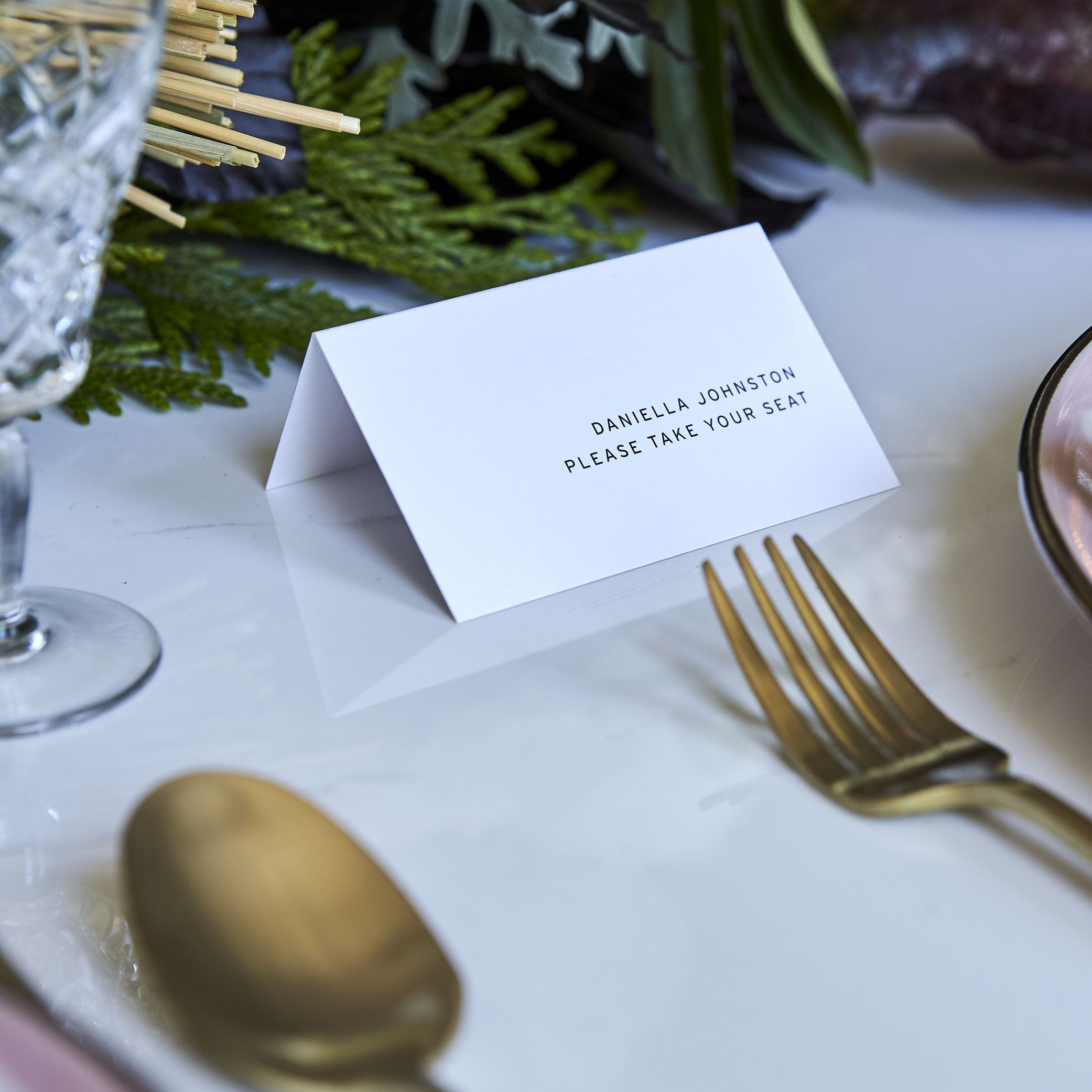 Reception Stationery - PLACE CARDS | Folded Card