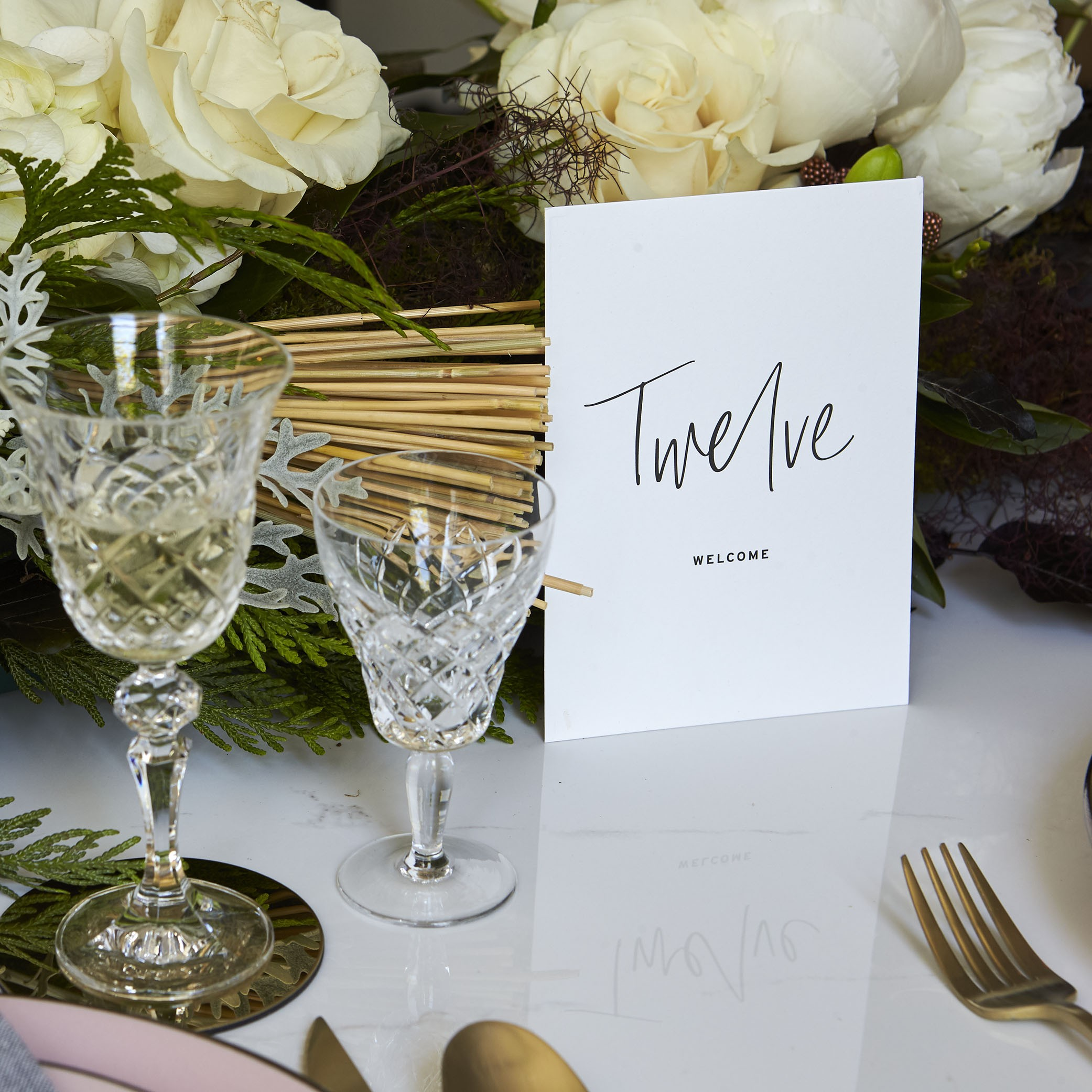Reception Stationery - TABLE NUMBERS