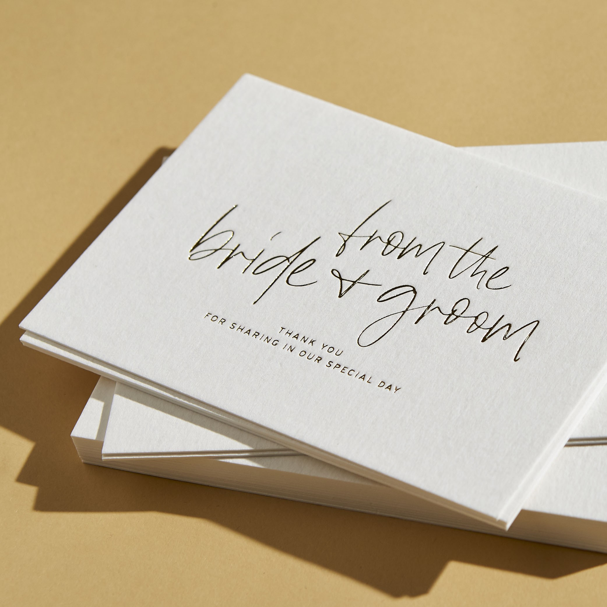 THANK YOU CARDS | Love Letters Foiling