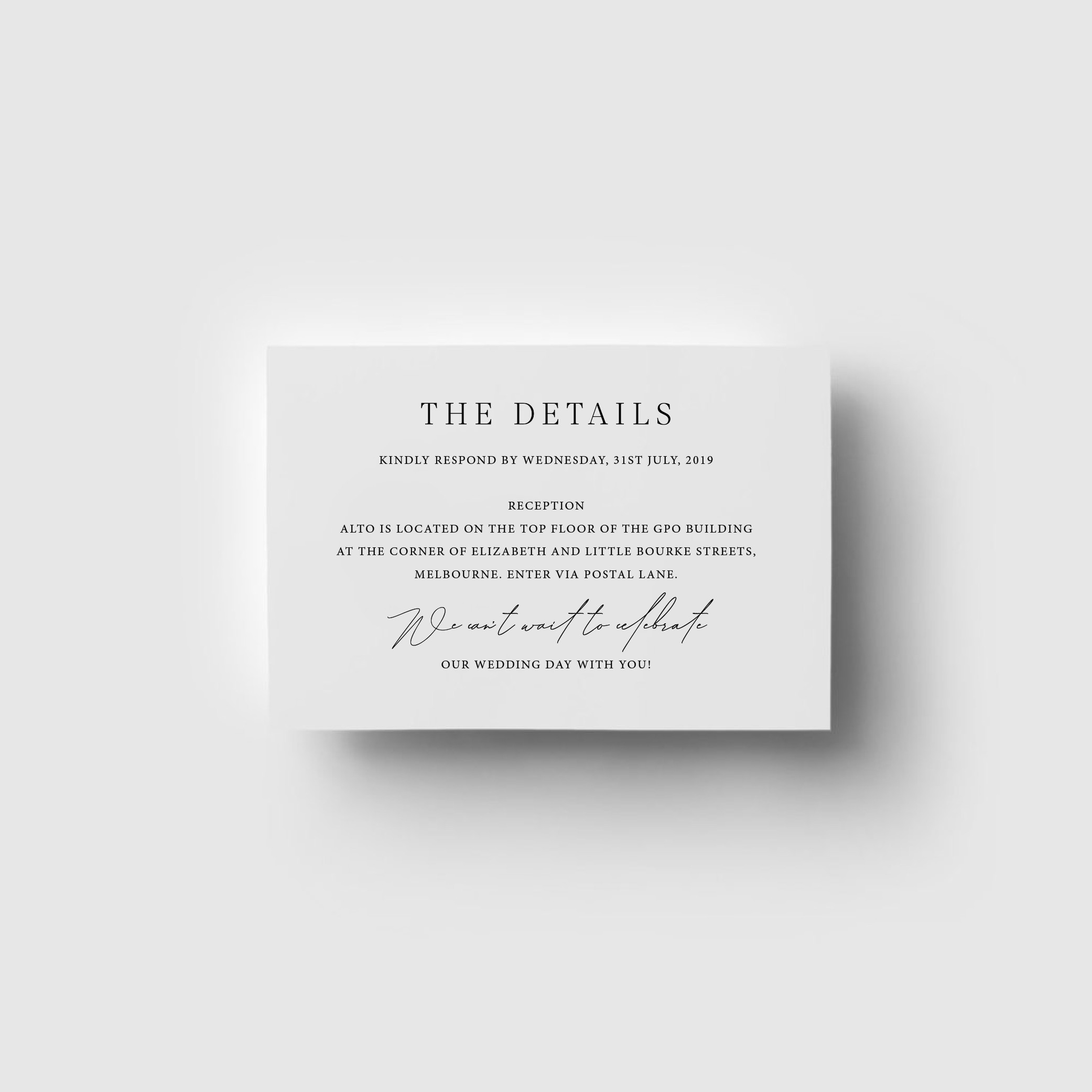 The Details - THE DETAILS | Digital Print