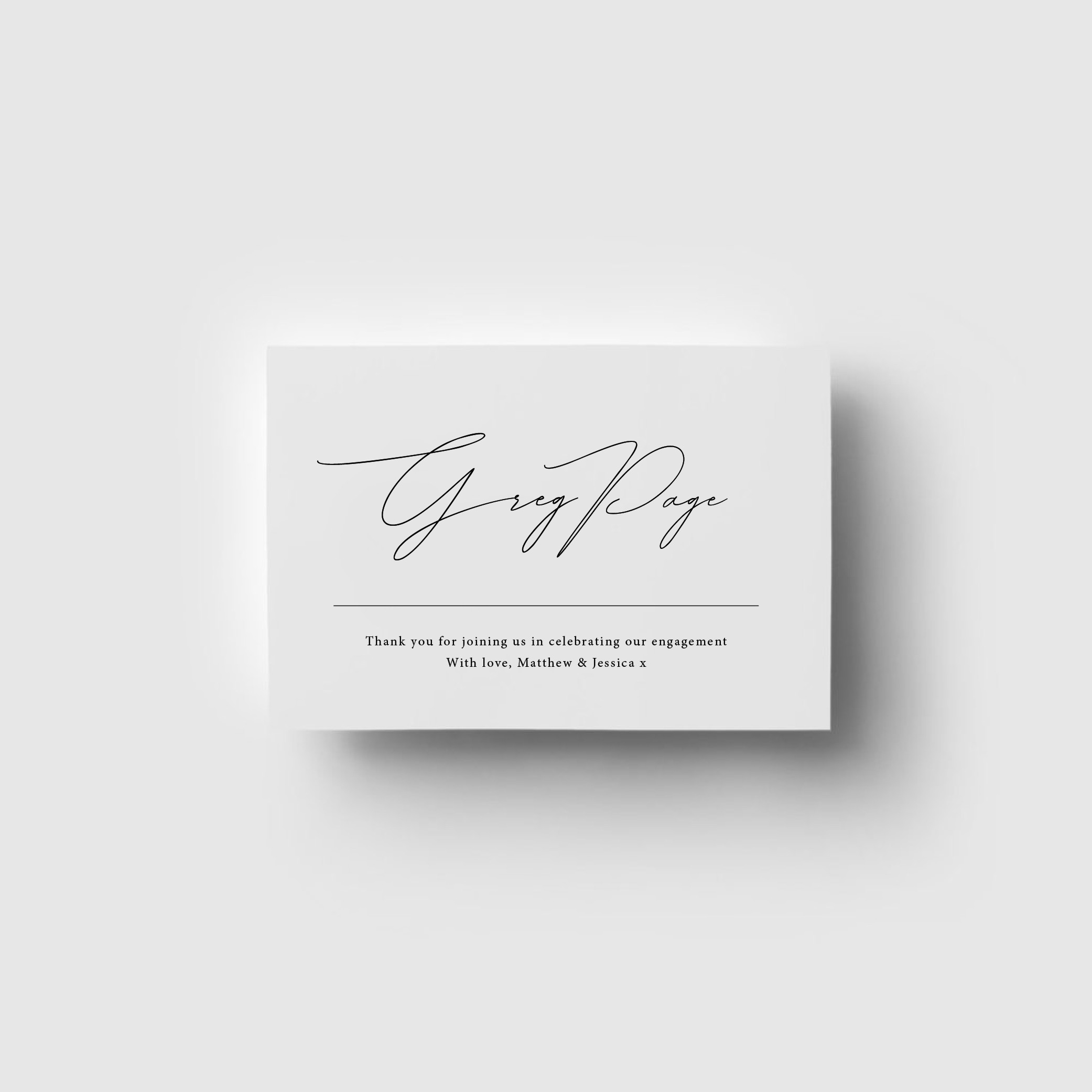 PLACE CARDS   Flat Lay