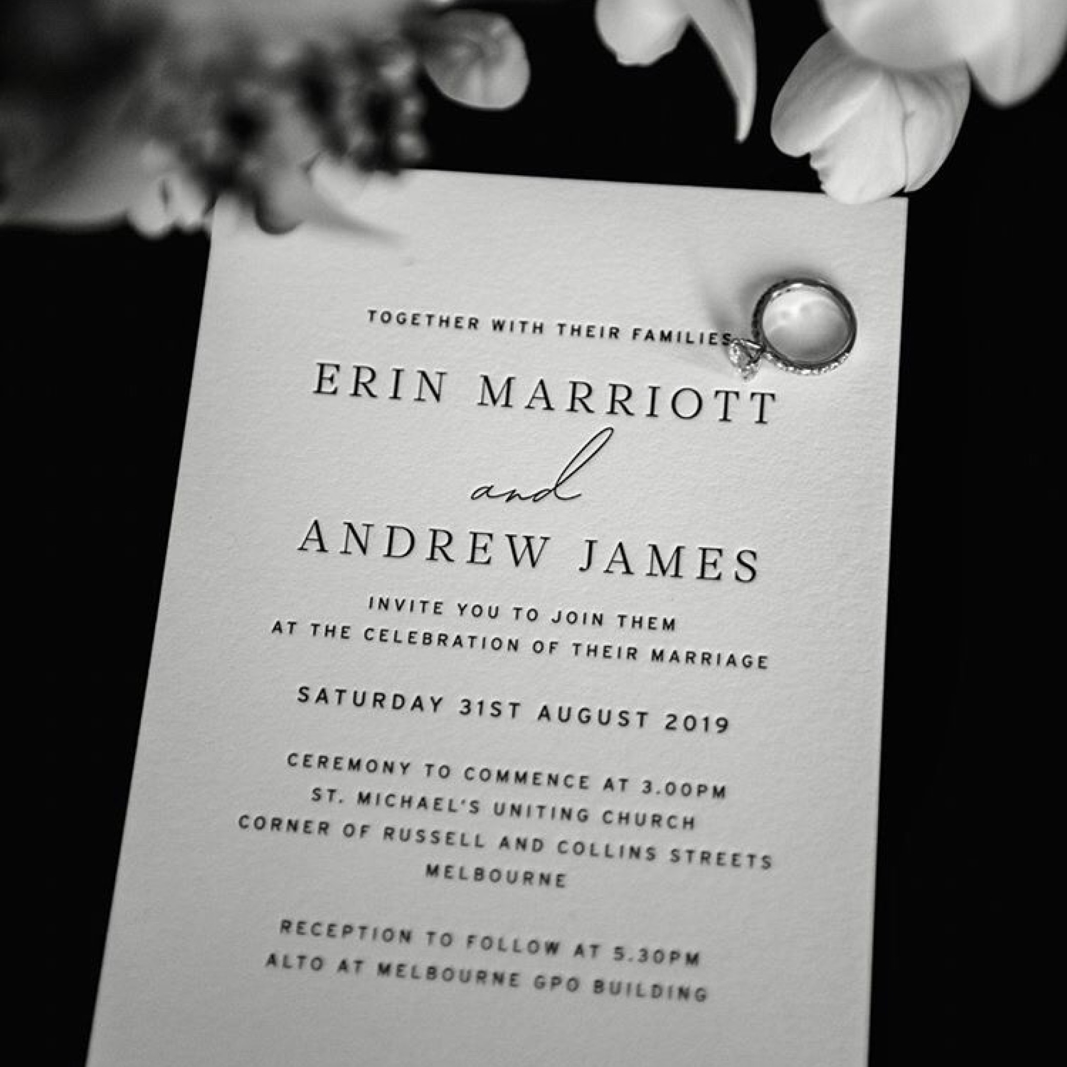 Wedding Invitations - MAIN INVITATION | Erin + Andrew