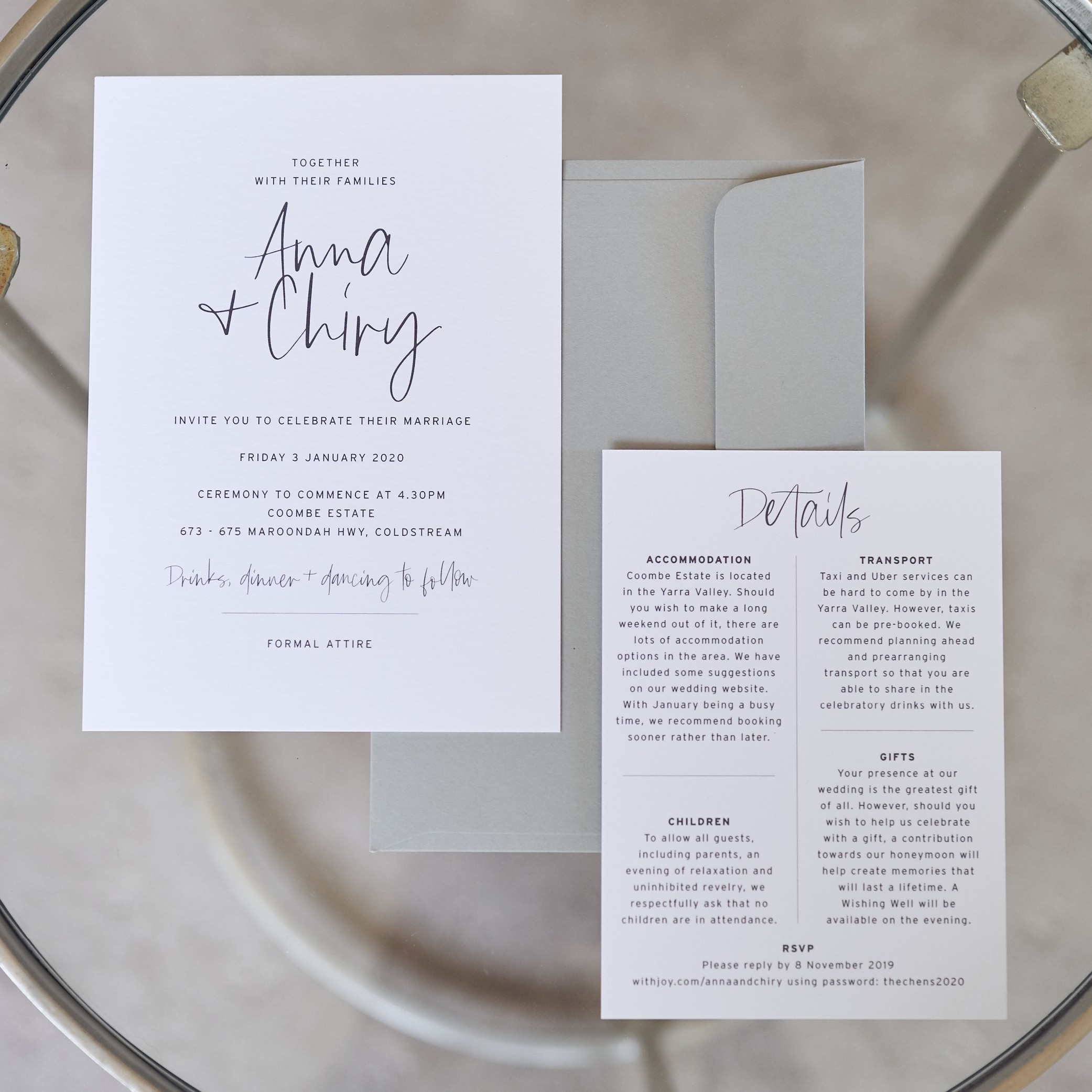 THE DETAILS | Anna + Chiry