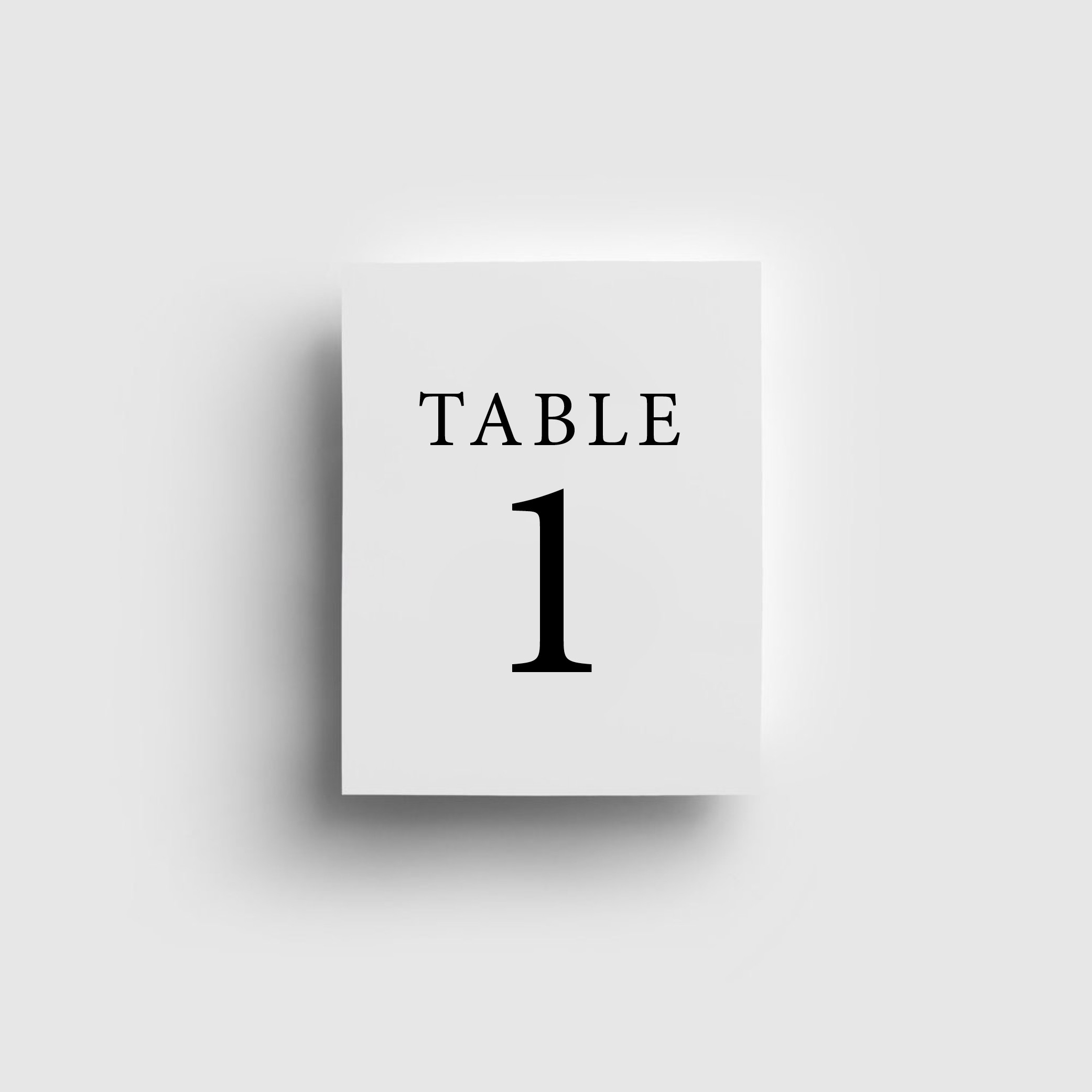 Reception Stationery - TABLE NUMBERS | Mr + Mrs Barathy
