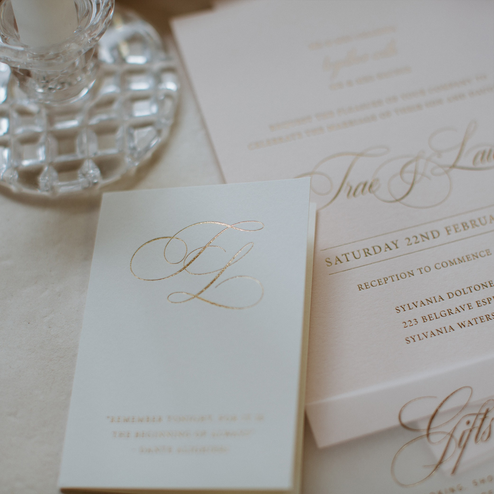 The Details - FOLDED CARD | Trae + Lauren