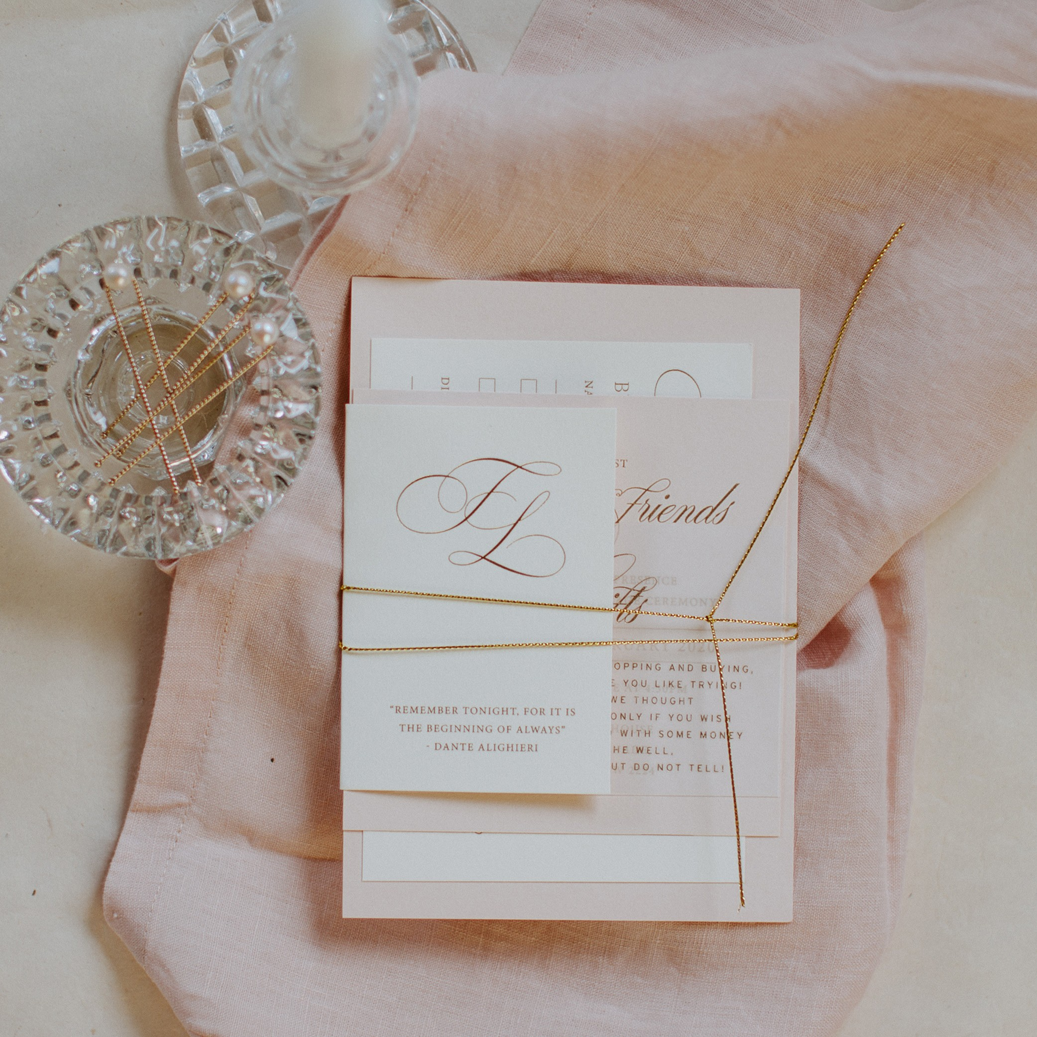 FOLDED CARD | Trae + Lauren