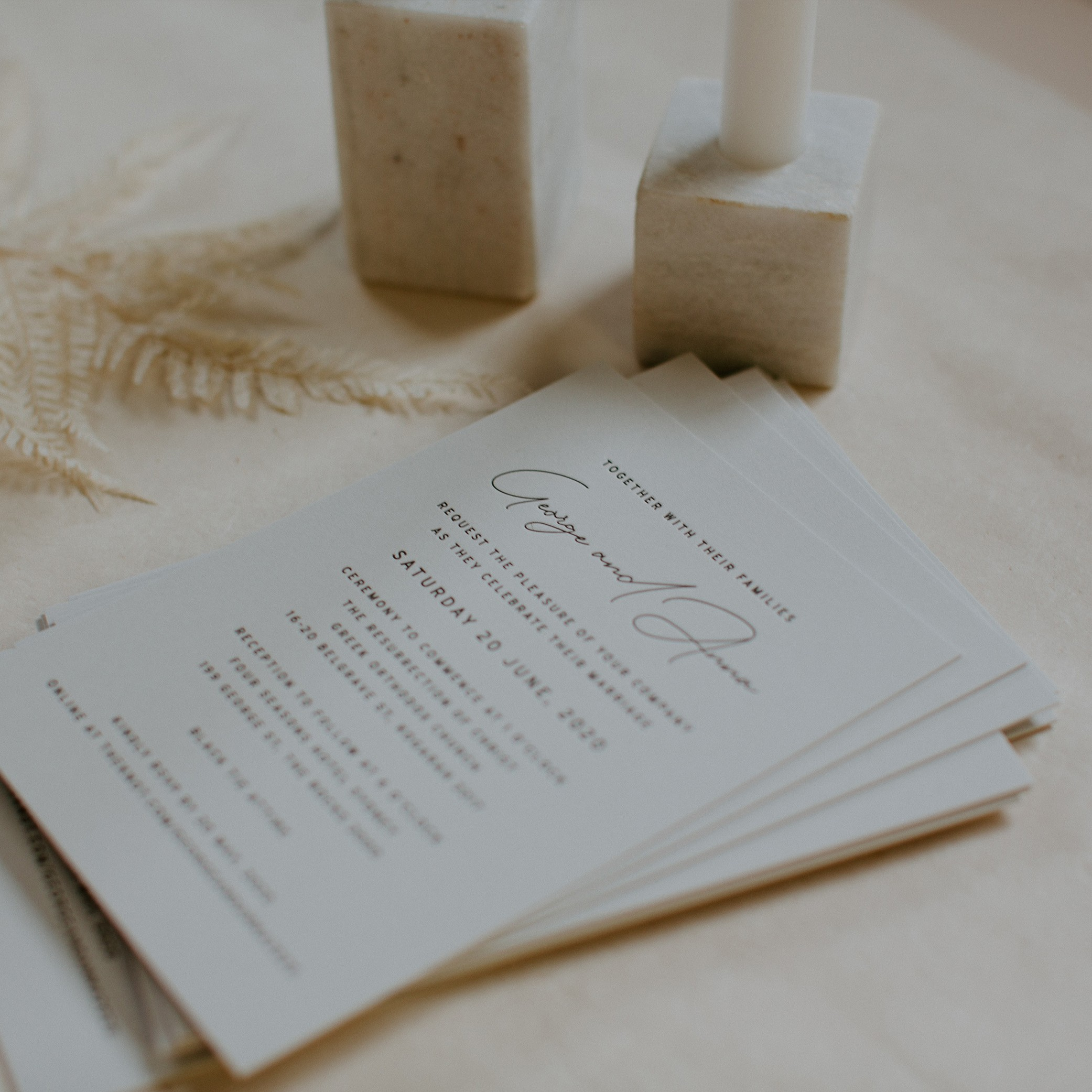 MAIN INVITATION | George + Anna
