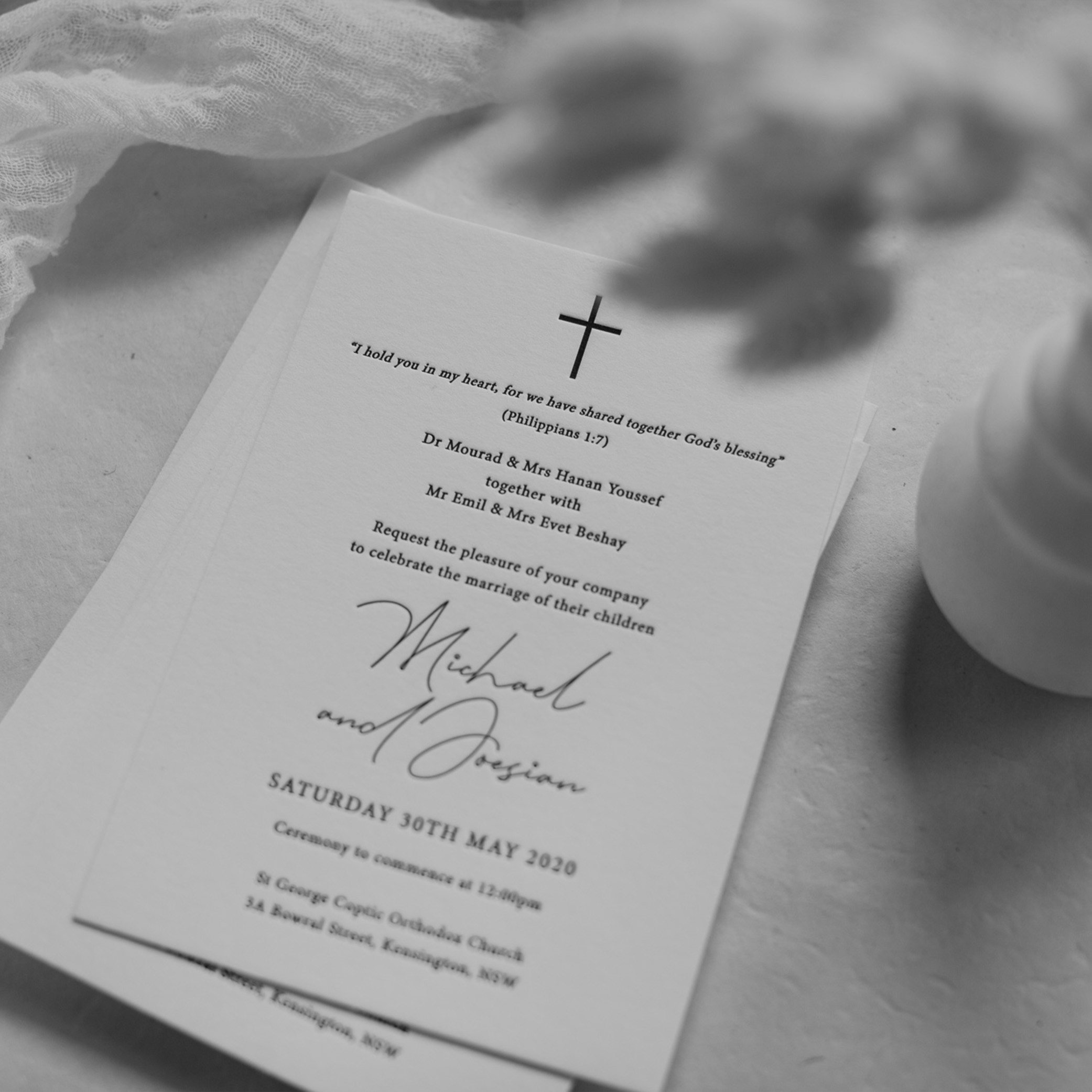 MAIN INVITATION | Joesian + Michael
