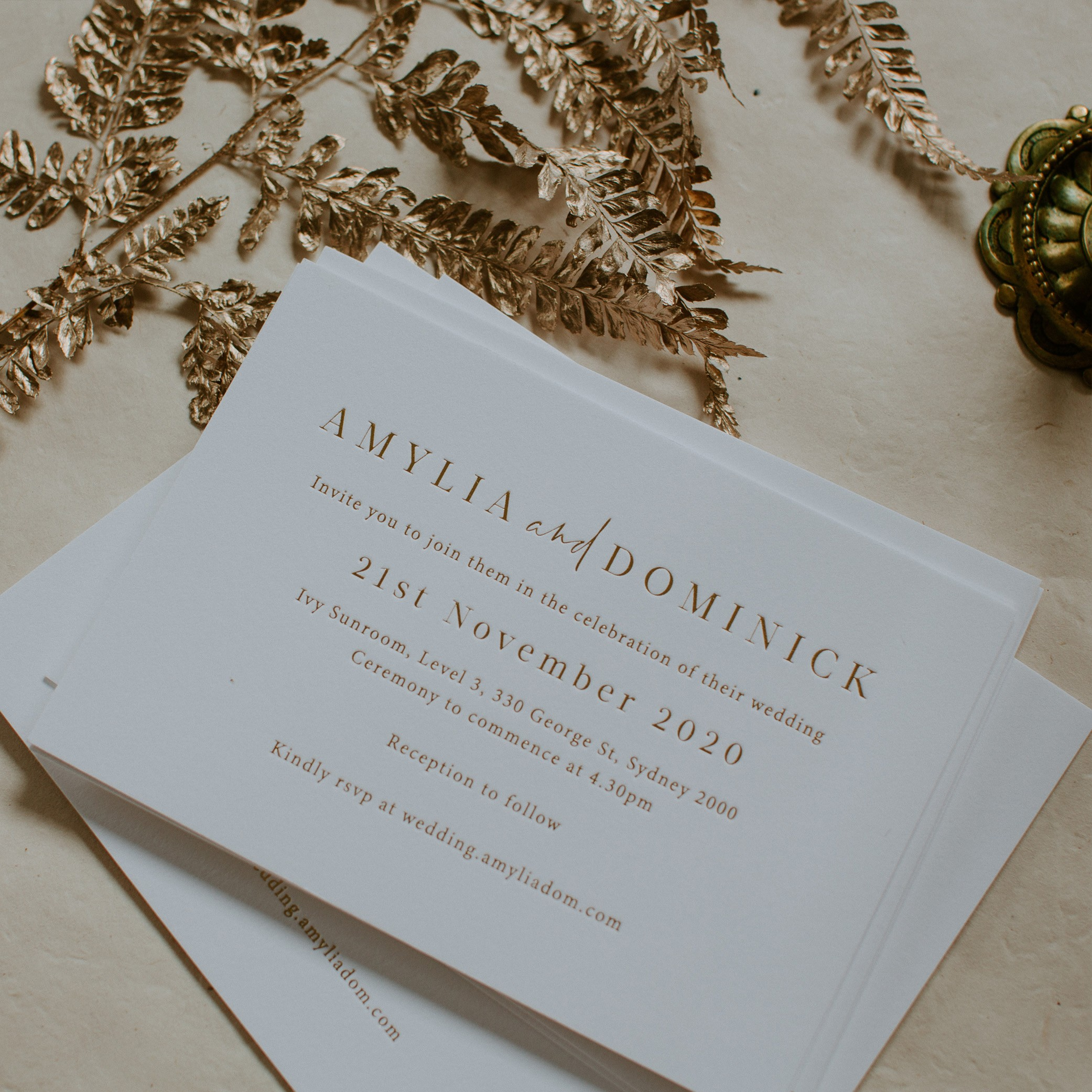 MAIN INVITATION | Amylia + Dom