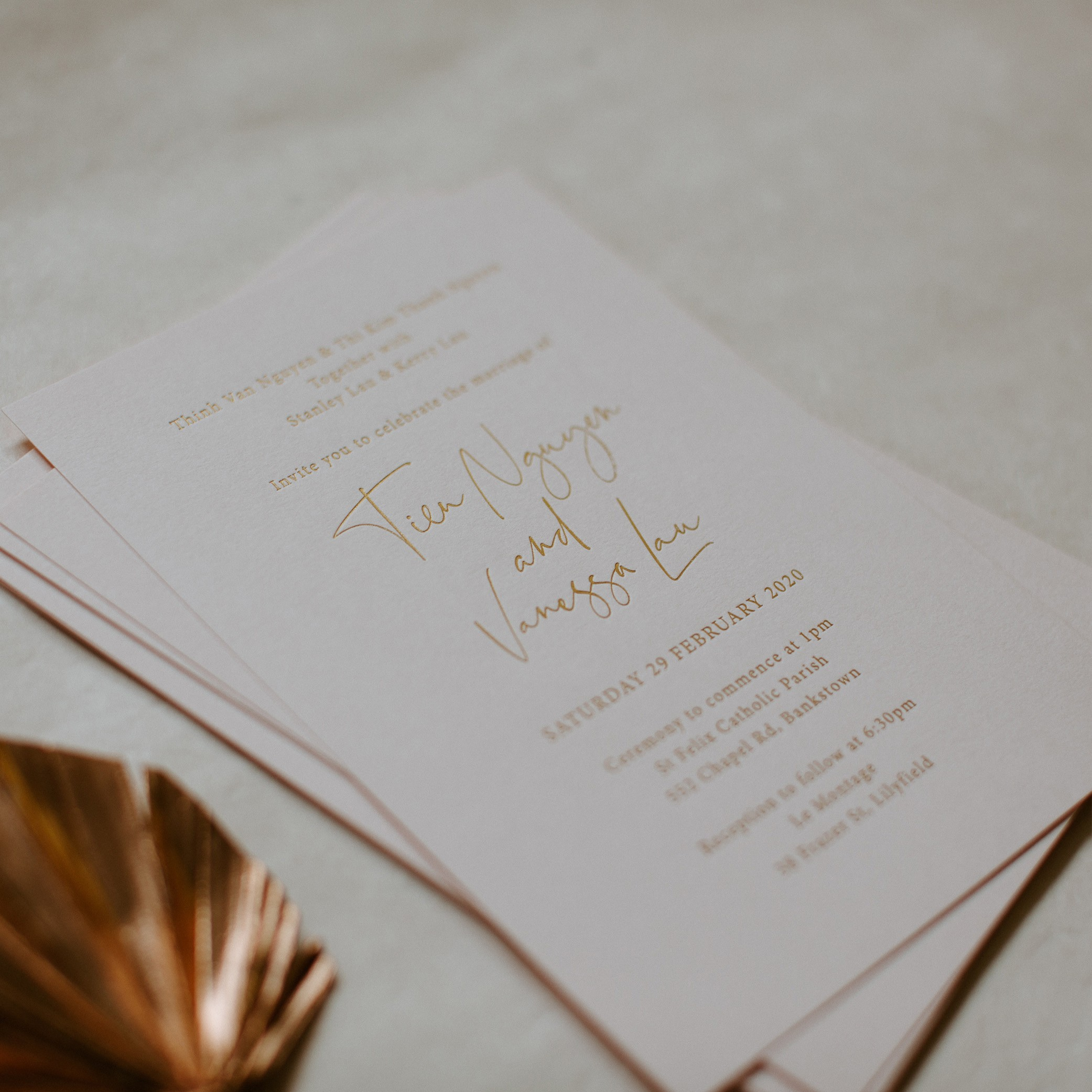 LOVE LETTERS COLLECTION   Vanessa + Tien