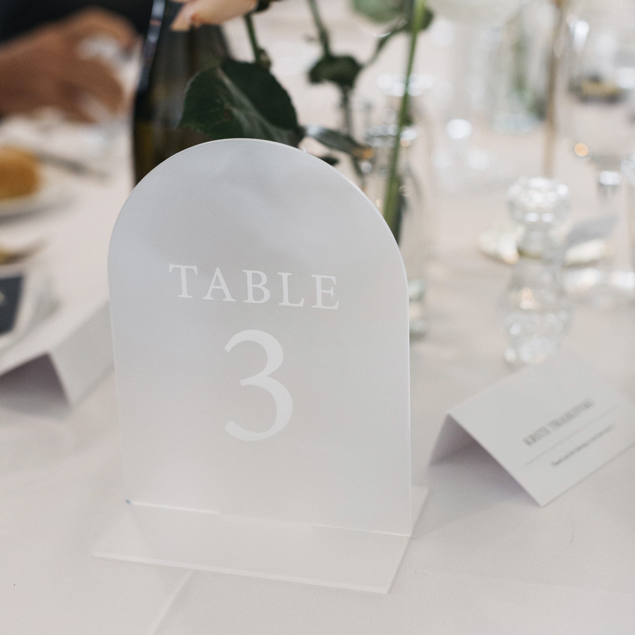 ACRYLIC TABLE NUMBERS | Mr + Mrs Barathy