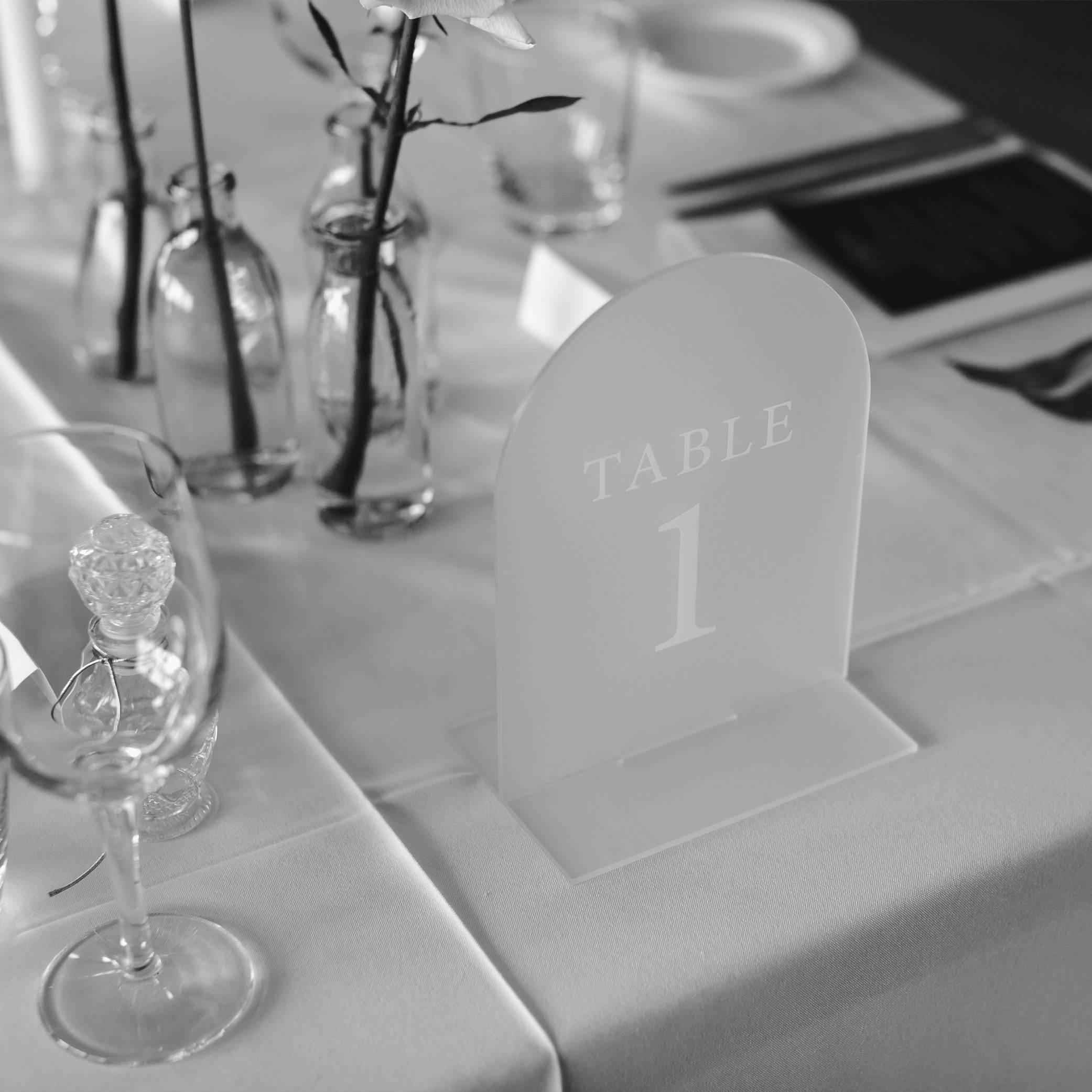 Reception Stationery - ACRYLIC TABLE NUMBERS | Mr + Mrs Barathy