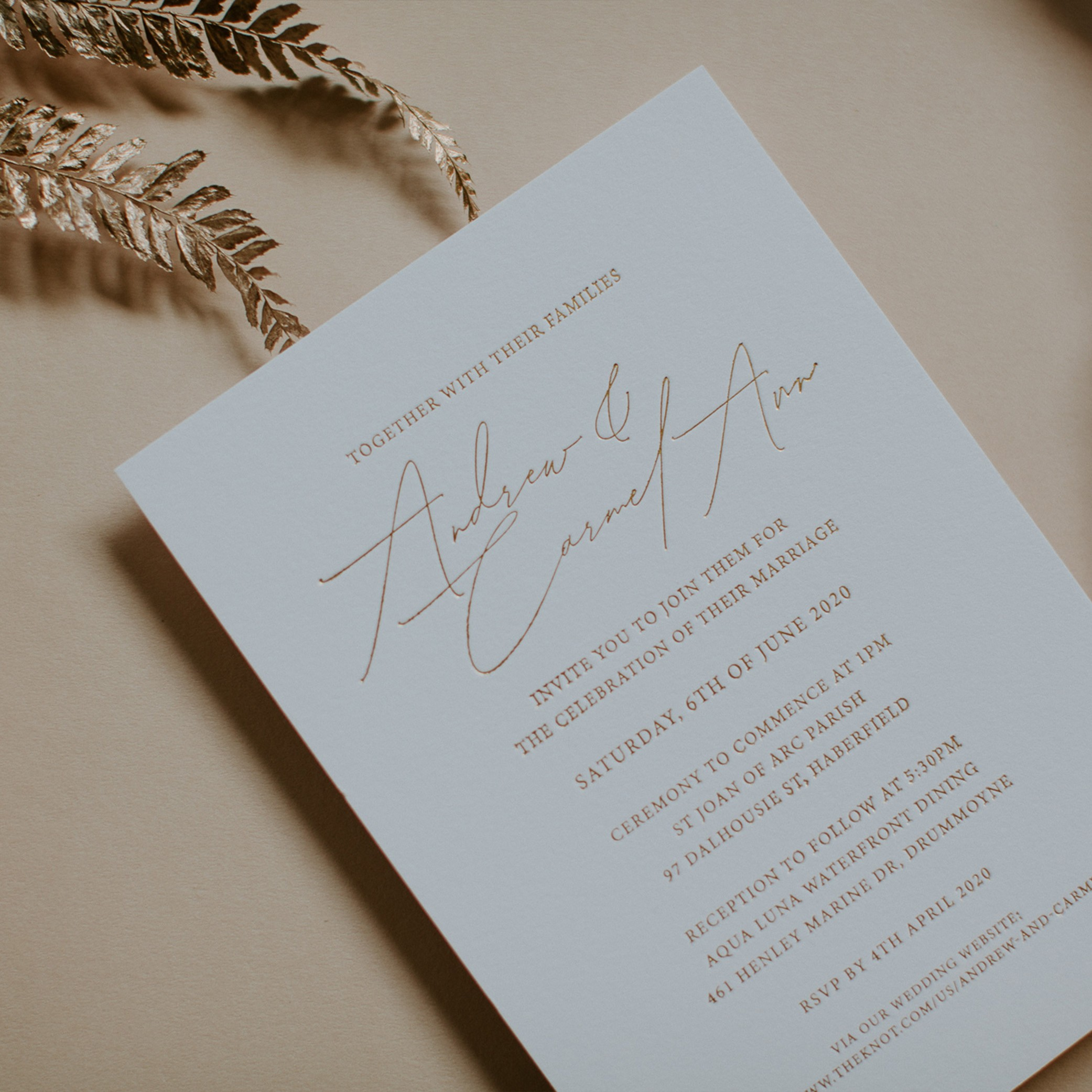 LOVE LETTERS COLLECTION | Carmel- Ann + Andrew