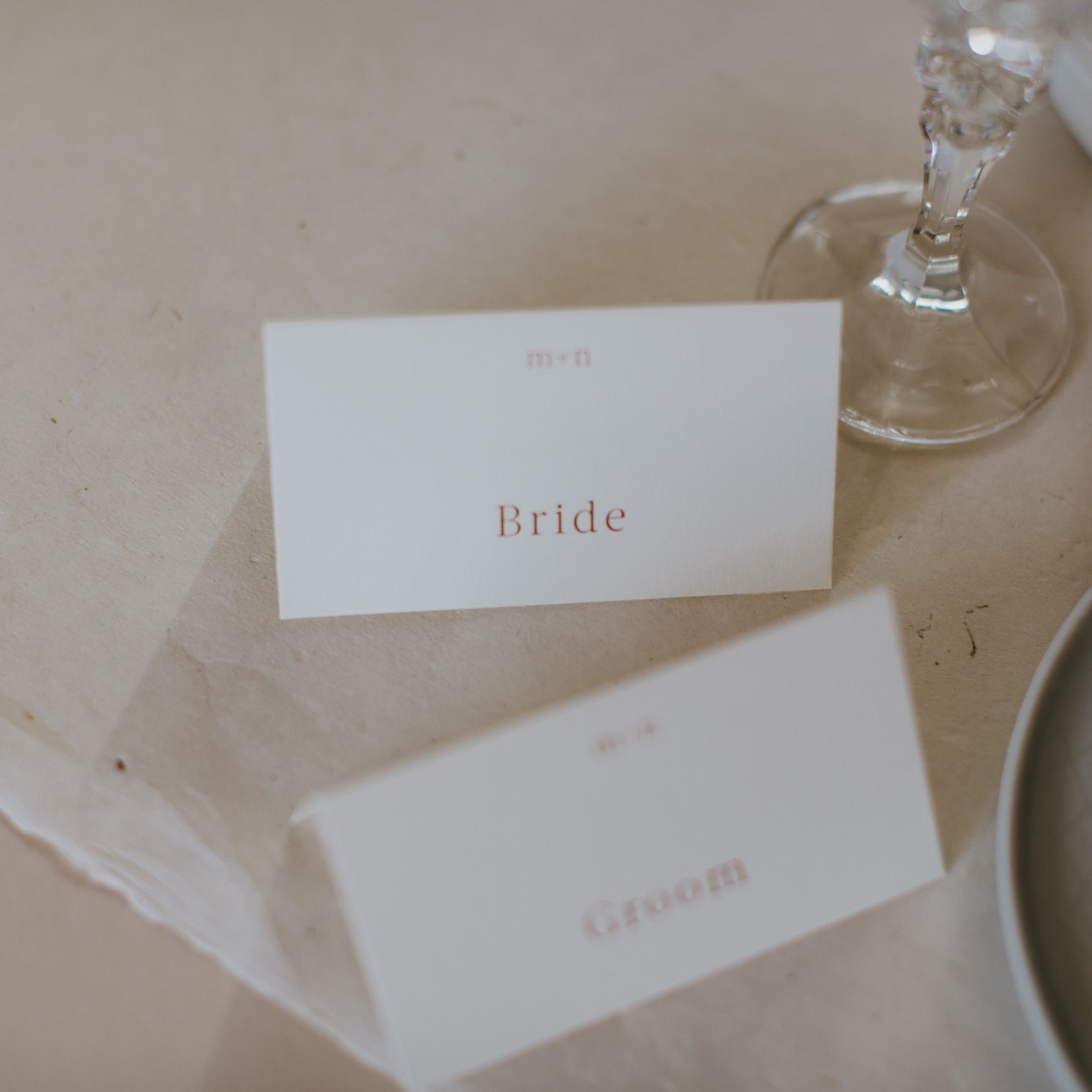 FOLDED PLACE CARDS | Millie + Nick