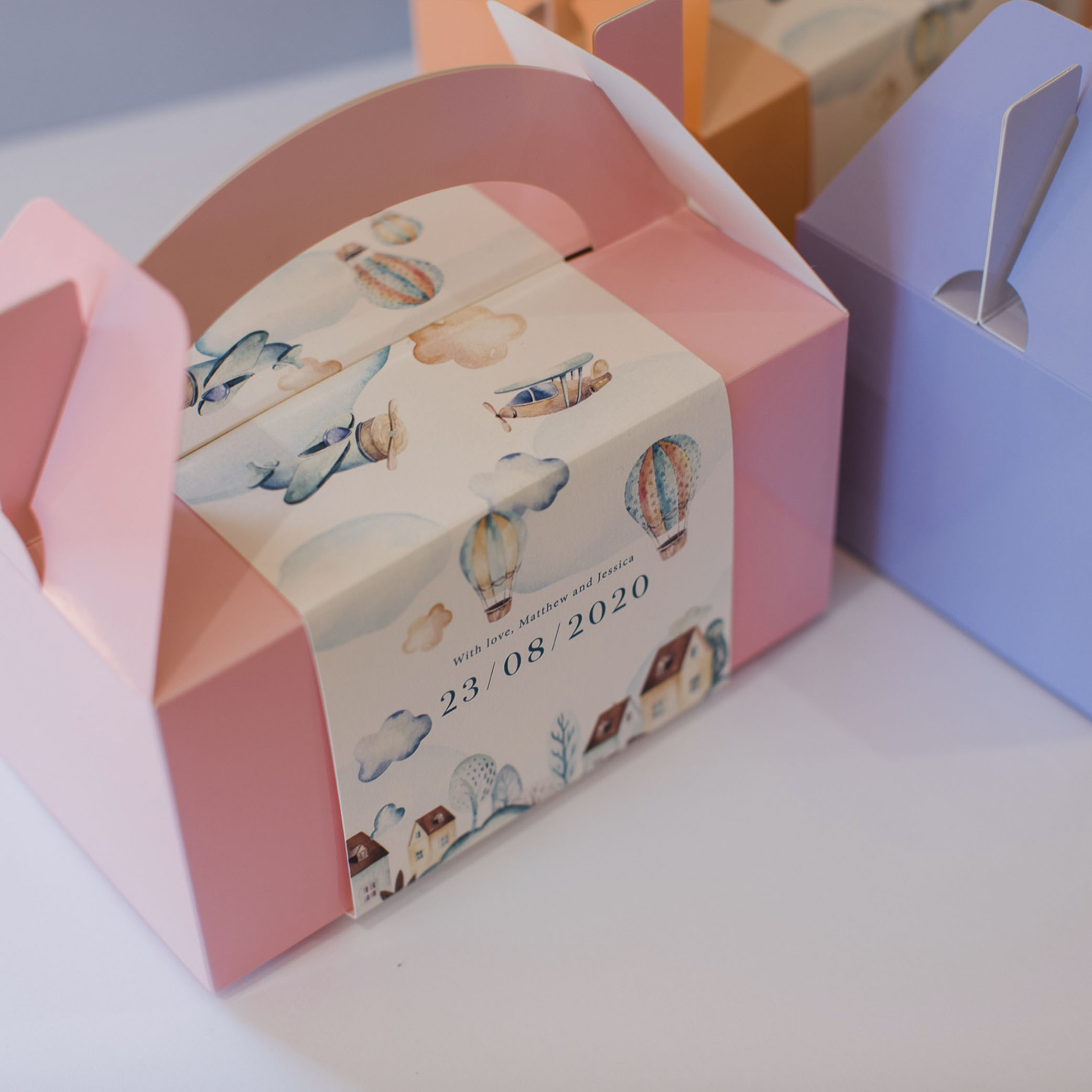 Lunchbox Favour Wraps | Baby Pink