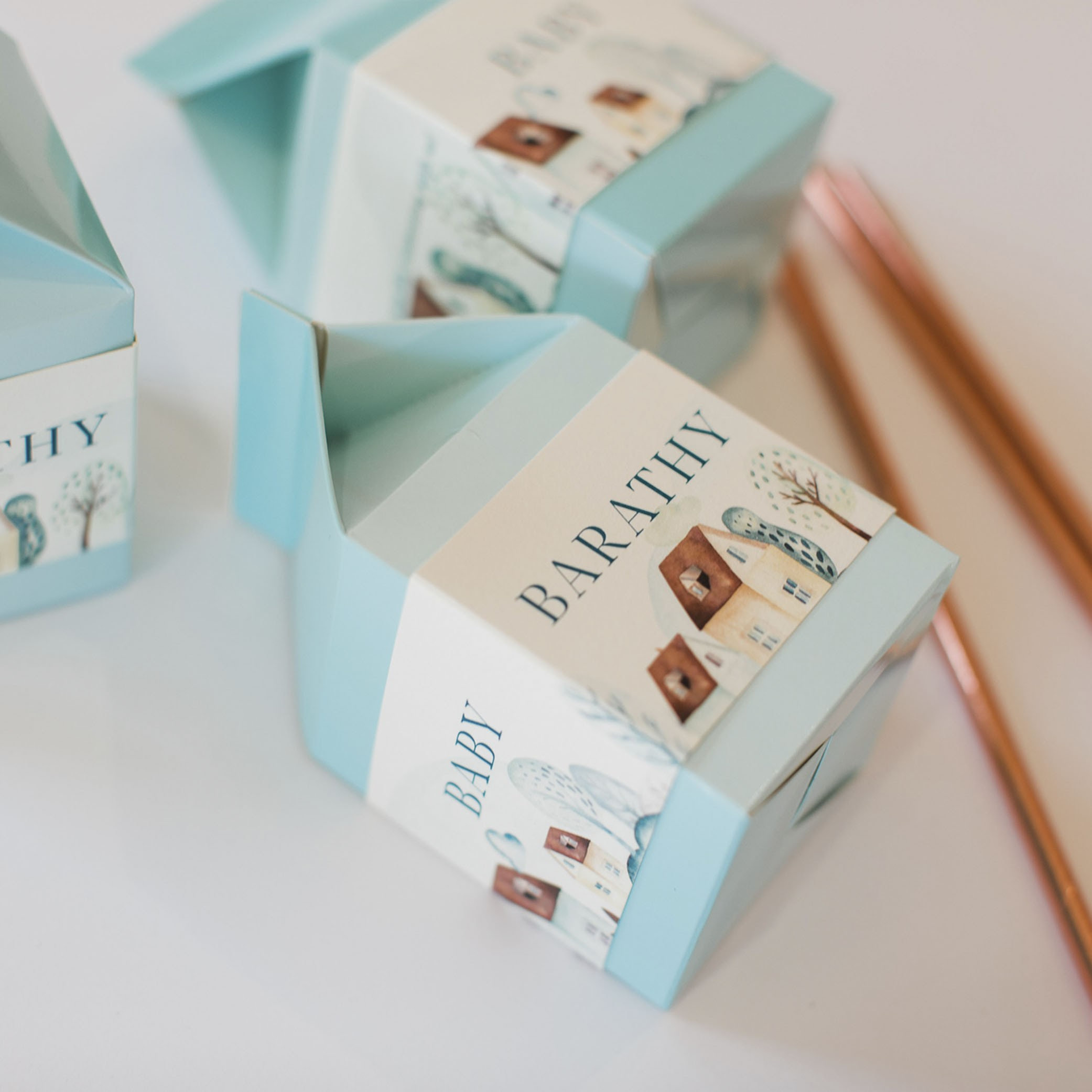 ILIYA Baby - Milk Box Wraps | Baby Blue