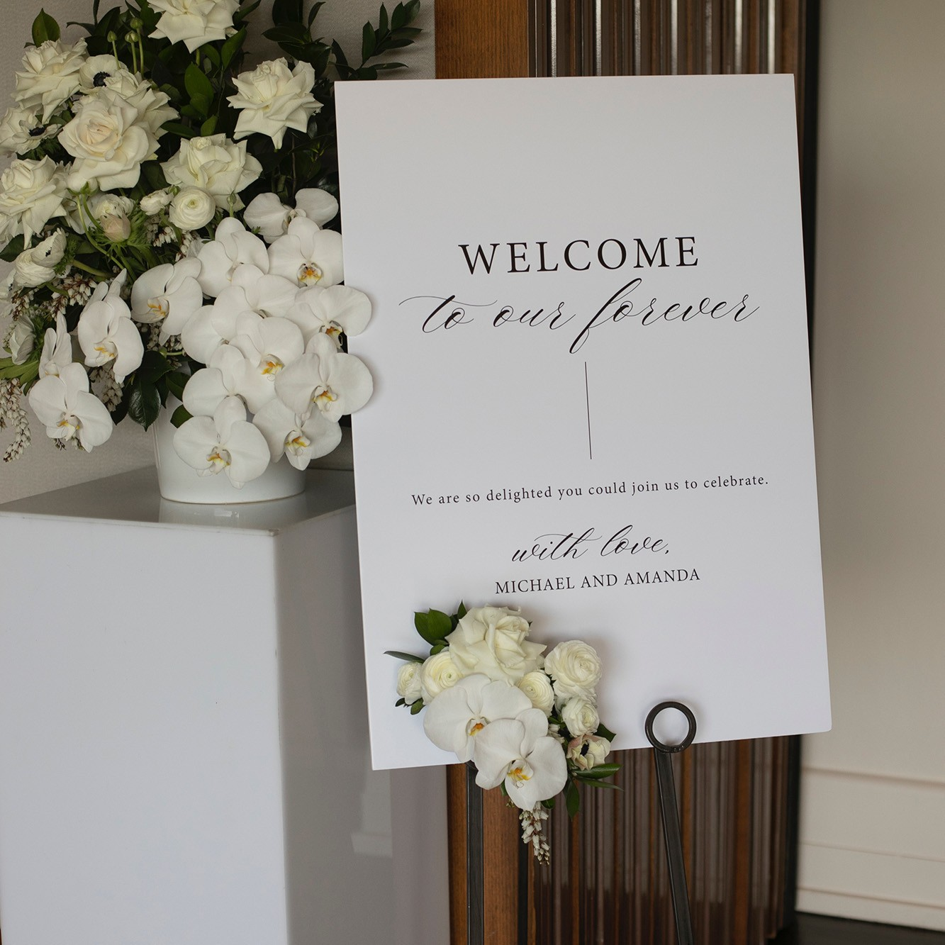 Reception Stationery - WELCOME SIGN | Amanda + Michael