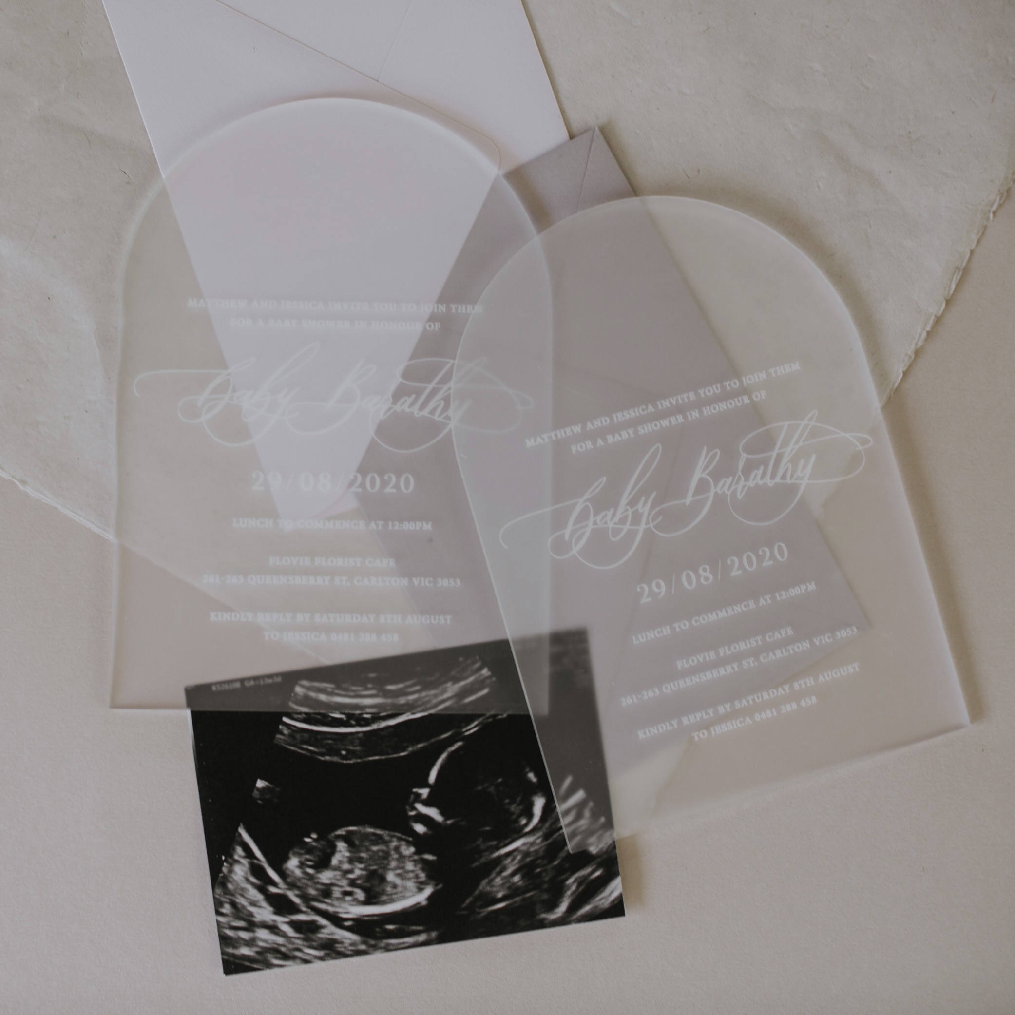 ILIYA Baby - ACRYLIC INVITATIONS | Arch Finish