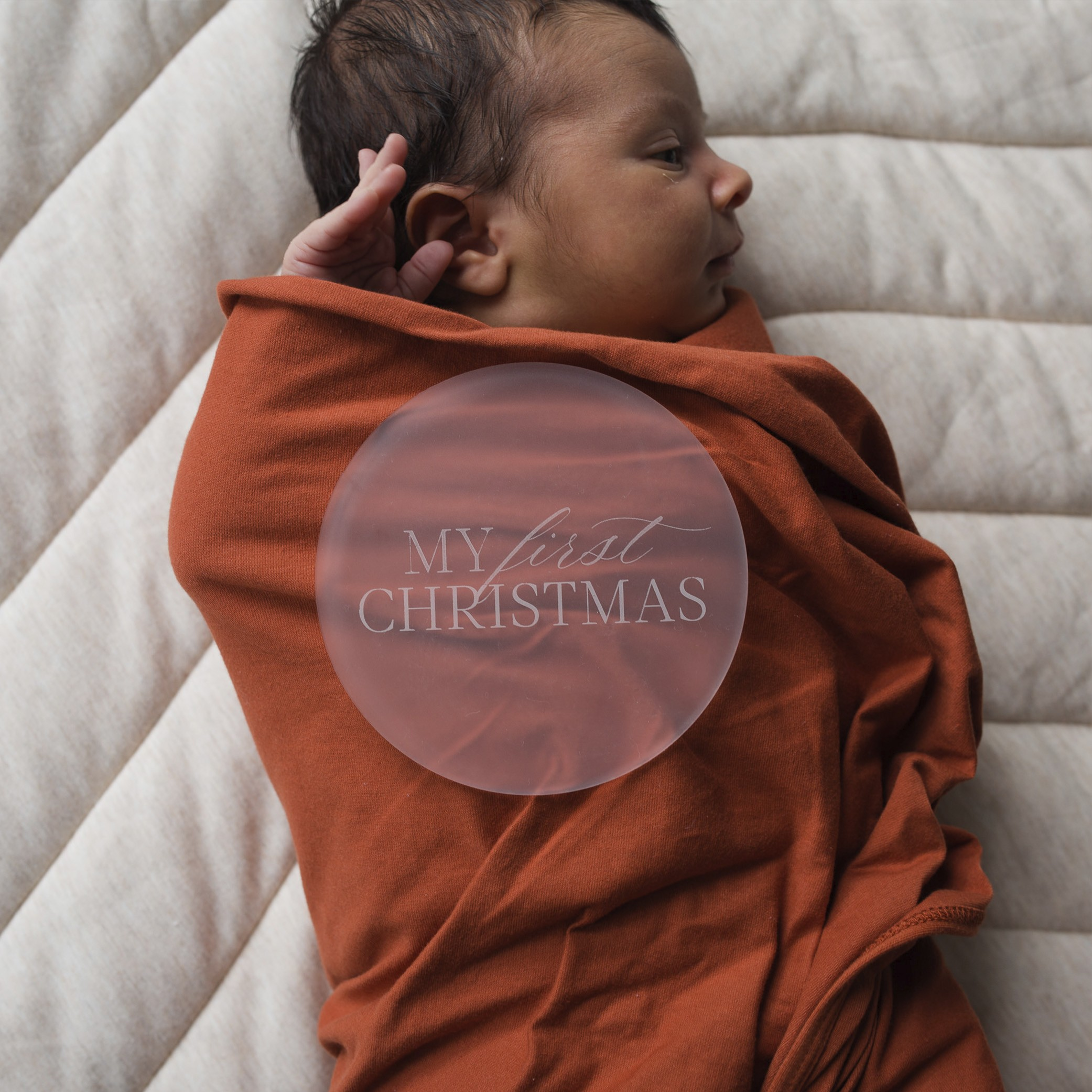 My First Christmas | Frosted acrylic Milestone Plates