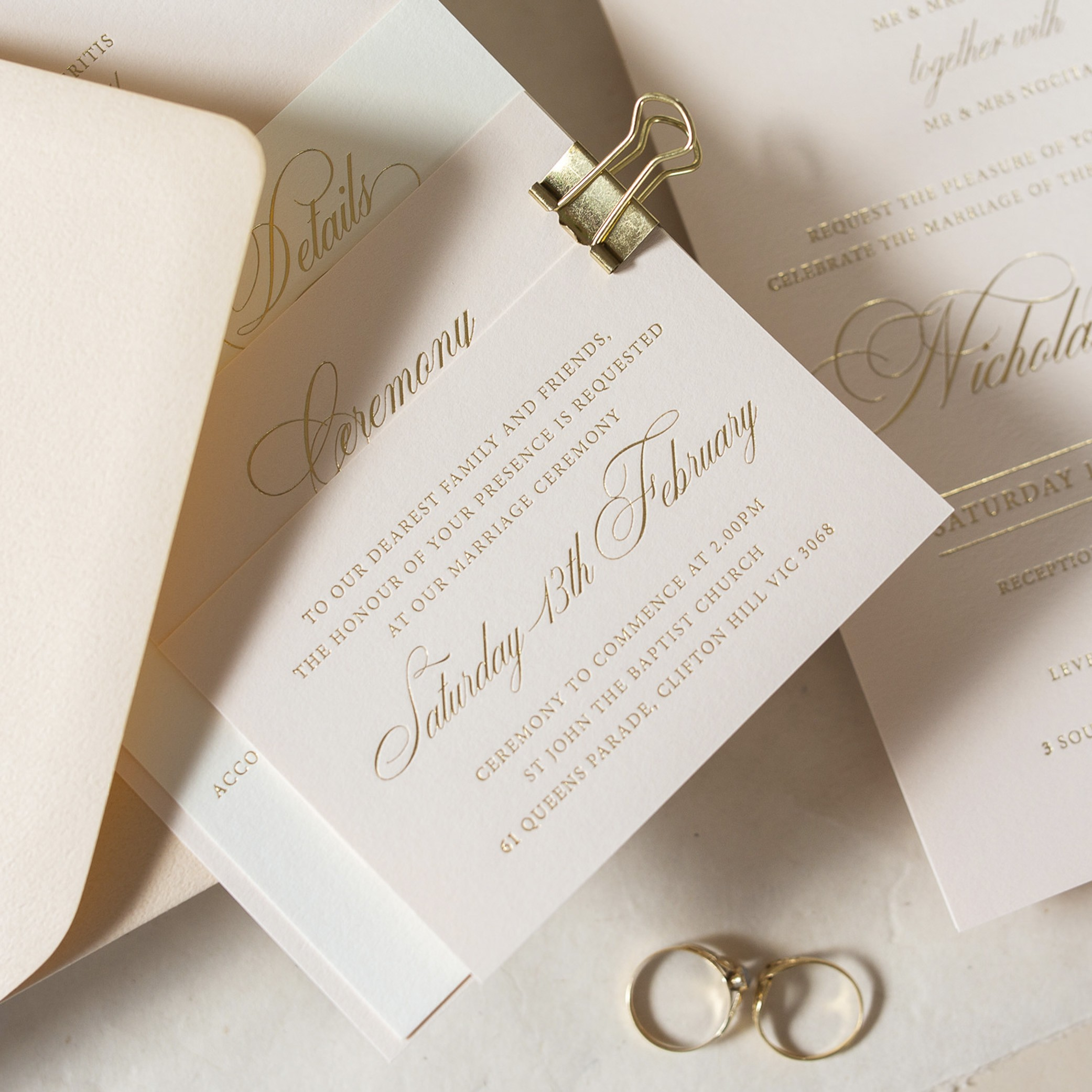 THE DETAILS | Ceremony Cards