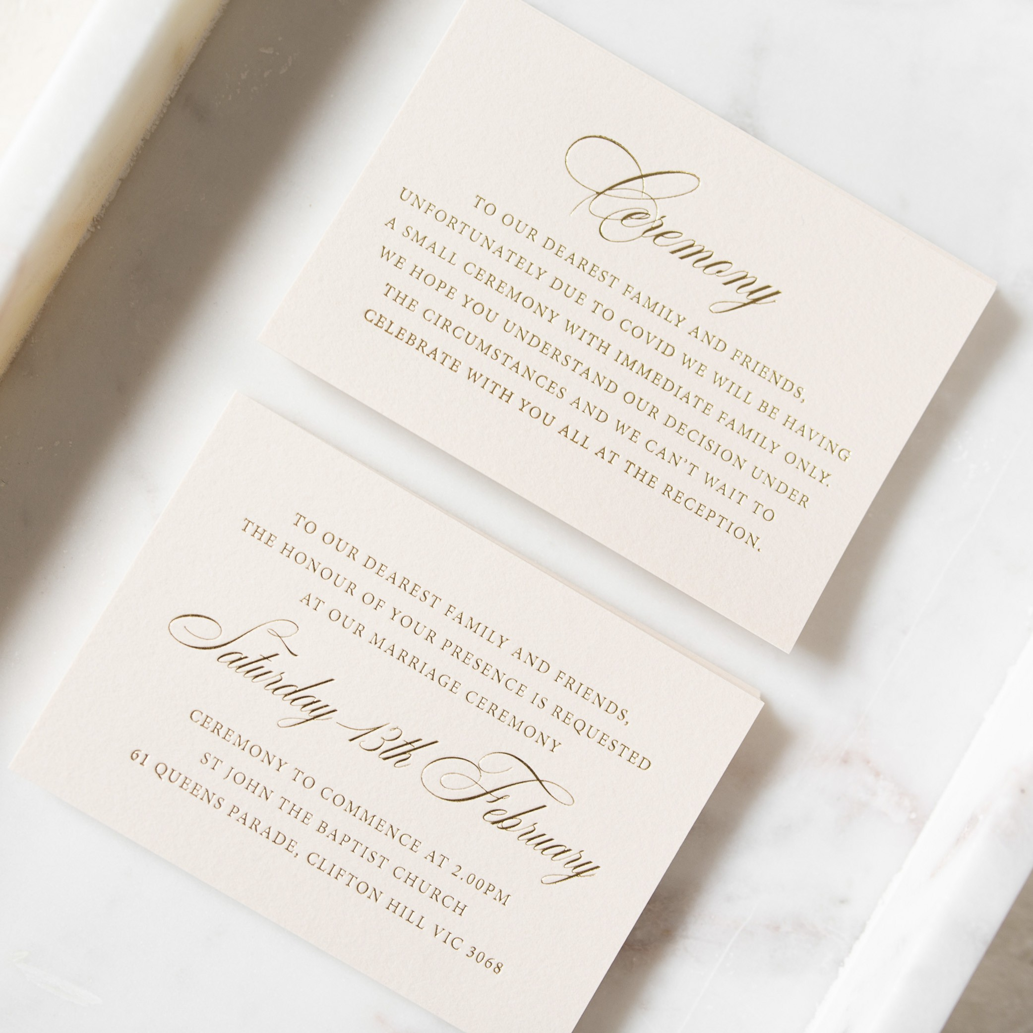The Details - THE DETAILS | Ceremony Cards