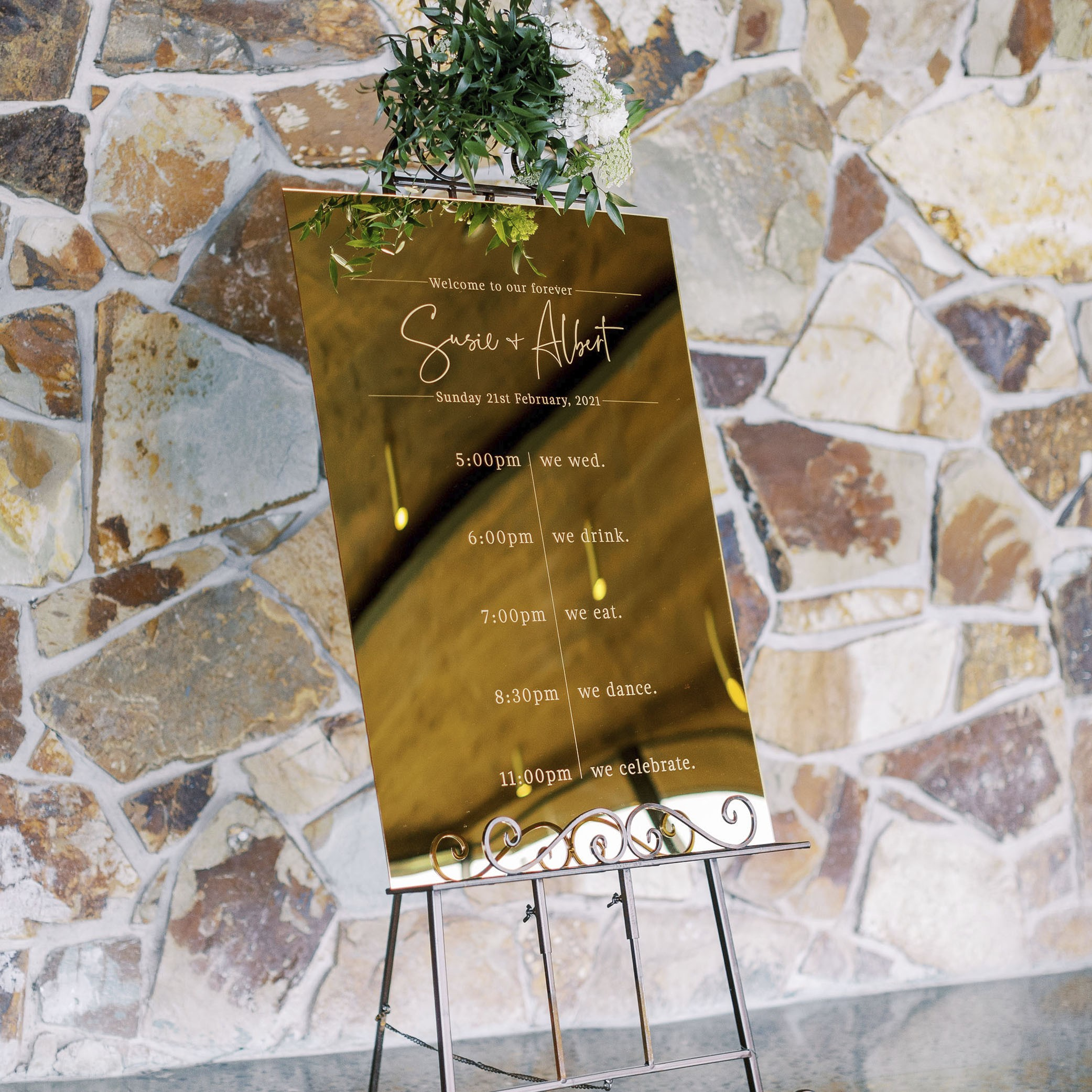 Reception Stationery - WELCOME SIGN | Susie + Albert