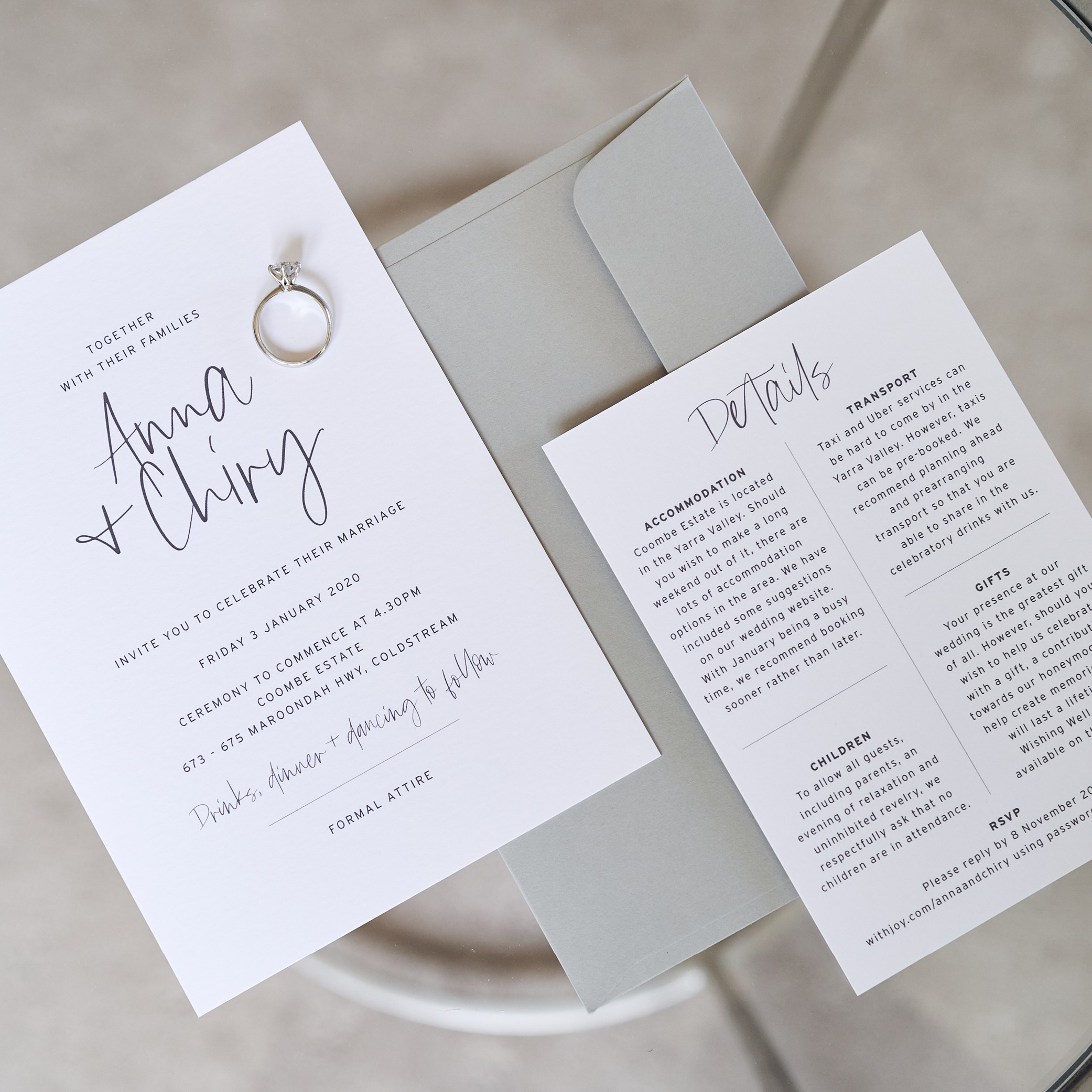 Wedding Invitations - LOVE LETTERS COLLECTION | Anna + Chiry